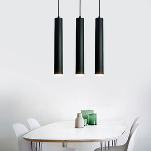 Image 3 - Led Pendant Dimmable Hanging Lights Kitchen Island Dining Room Shop Bar Counter Decoration Cylinder Pipe  Lamps