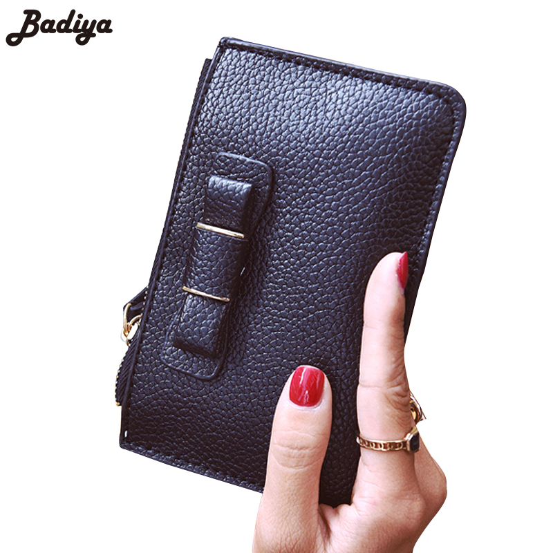 New Female Ultra-thin Purse Clutch Purses Fashion Women Solid Short Wallet Zipper Card Holder Money Bowknot Bag Wallets 2016 sep women wallets zipper short purse clutch coin bag cat wallet women card holder purses carteiras brand women bag