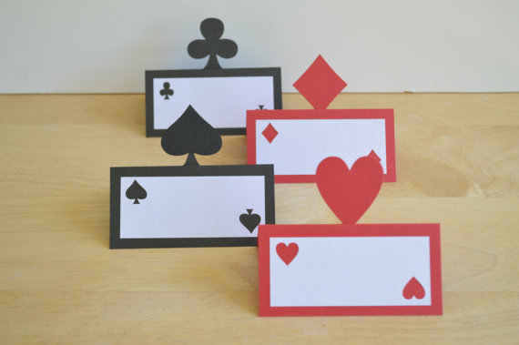 Casino Night Las Vegas Party Theme - Game tent place cards Wedding bridal baby shower seating & Online Get Cheap Vega Card -Aliexpress.com | Alibaba Group
