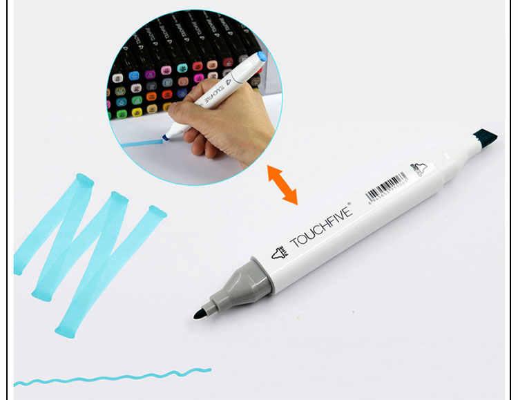 TOUCHFive Одиночная двойная голова художественный маркер белый акриловый спирт эскиз Маркеры Ручка для искусства раскрашивания дизайн искусства