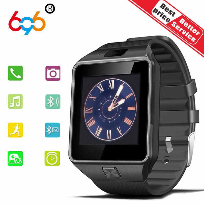 696 DZ09 умные часы Fintness bluetooth 2 г SIM DZ09 для android анти-потерянное сообщение напоминание Smartwatch для Android iOS PK GT08