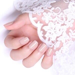 Image 4 - NEE JOLIE 8ml lakier do paznokci różowy szary seria kawy szybkoschnące lakier do paznokci 72 zwykłe kolory na lato zdobienie paznokci dekoracje