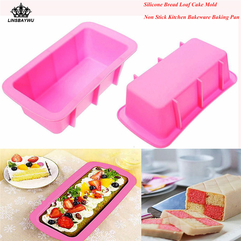 Baking & Pastry Tools Silicone Rectangle Shape Toast Bread Mold Jelly Ice Baking Mould Diy Cake Decorations Loaf Pan Bakeware Tools Convenience Goods