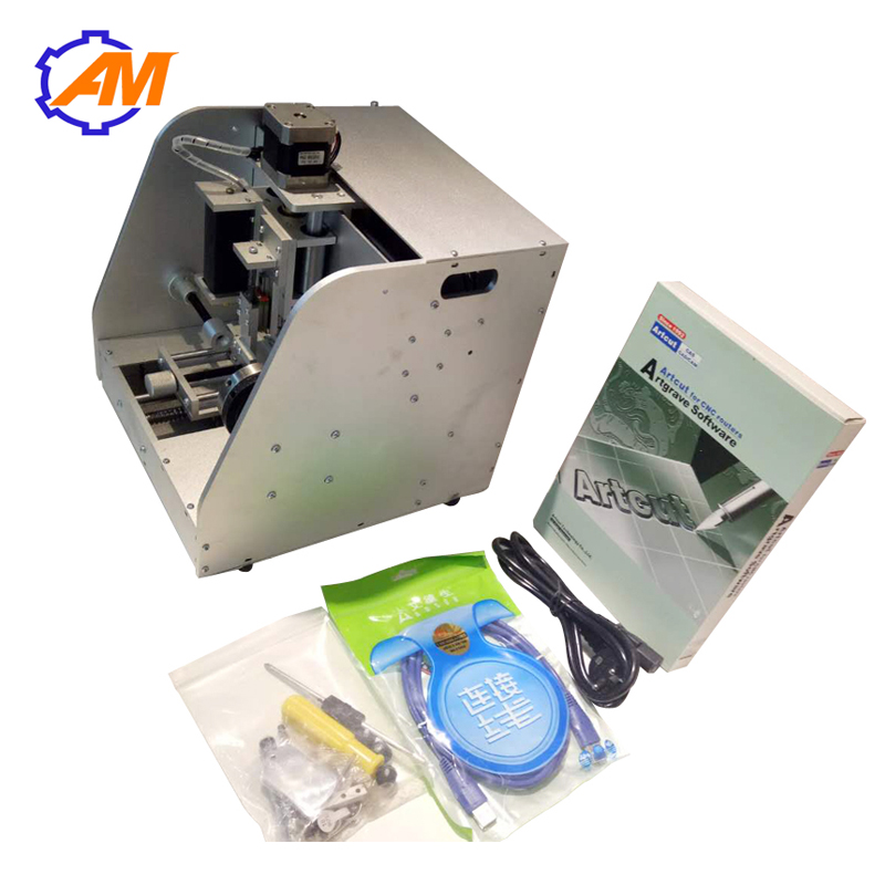 Medal engraving machine inside and outside ring engraver name plate id tag pet tag pen engraving router