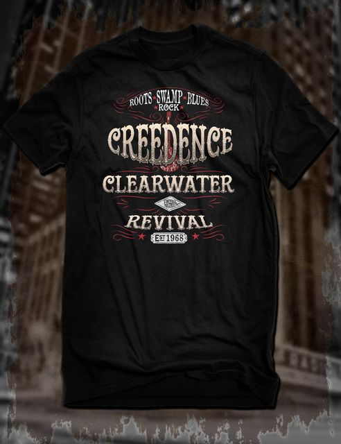 US $12 34 5% OFF|New Black Creedence Clearwater Revival T Shirt Ccr Tee  Fortunate Son Swamp Rock 2019 New Summer Men Cotton Short Sleeve T Shirt-in