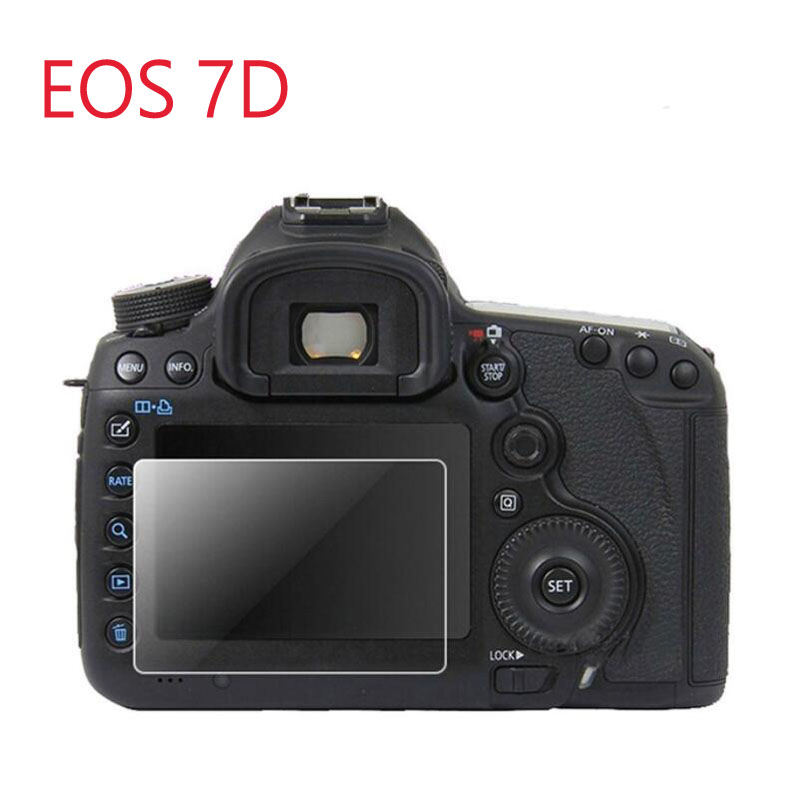 Tempered Glass Protector Guard Cover For Canon EOS 7D DSLR Camera LCD Display Screen Protective Film Protection