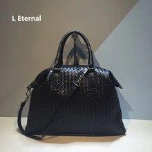 2019 Woman Handbag  The single shoulder bag Woven Internal and external dermis Hand knit High-capacity High-quality