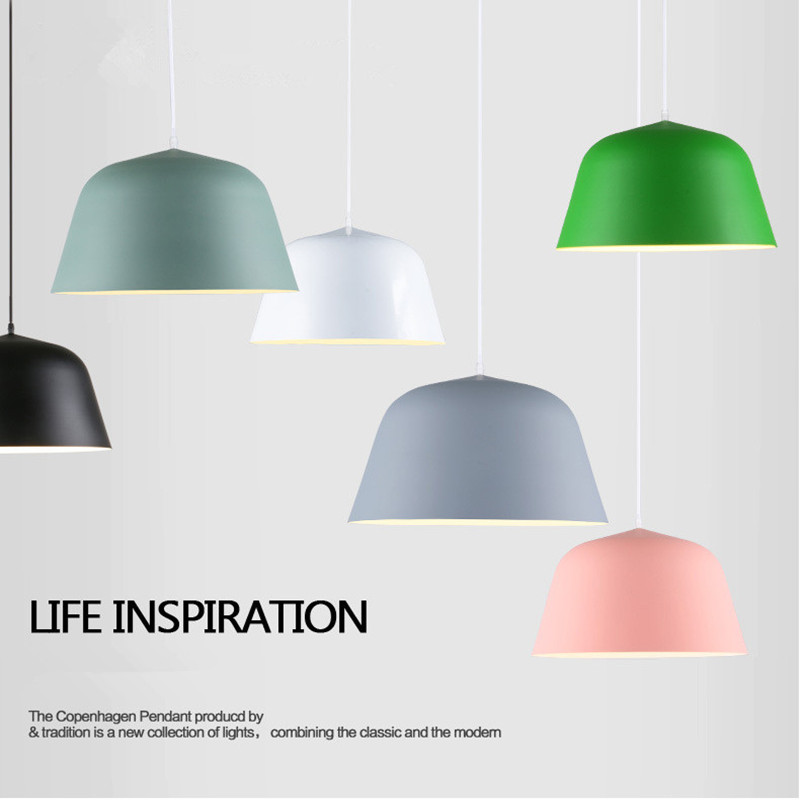 Modern Nordic Denmark Restaurant Chandelier Simple Bedroom Lamp Creative Living Room Cafe Bar LED Aluminum Lamp Free Shipping nordic wrought iron simple modern pendant lamp with led bulb dinning room light cafe lamp e27 110v 220v free shipping