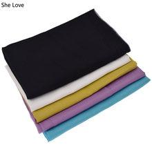 Chzimade 1m cor sólida tecido de algodão de seda macia linning material para diy costura vestuário fazendo