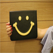 New model tablet case for Apple ipad pro 9.7inch character Smiling face pattern leather cover brand quality