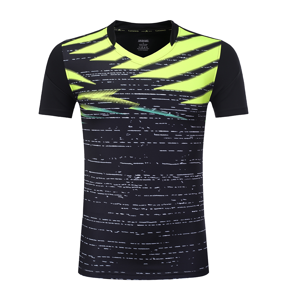 Kid / Women / Men Quick dry Badminton shirts ,short sleeve tennis clothes , Table Tennis t shirt , Girl Tennis shirts Uniforms