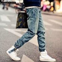 2015 New Fashion Mens Korean Style Distrressed Jogger Folds Jeans Gradient Slim Fit Pants Skinny Stretch