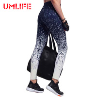 2017 Print Yoga Pants Tights Fitness Gym Running Leggings Women Yoga Leggings Quick Dry Breathable Black