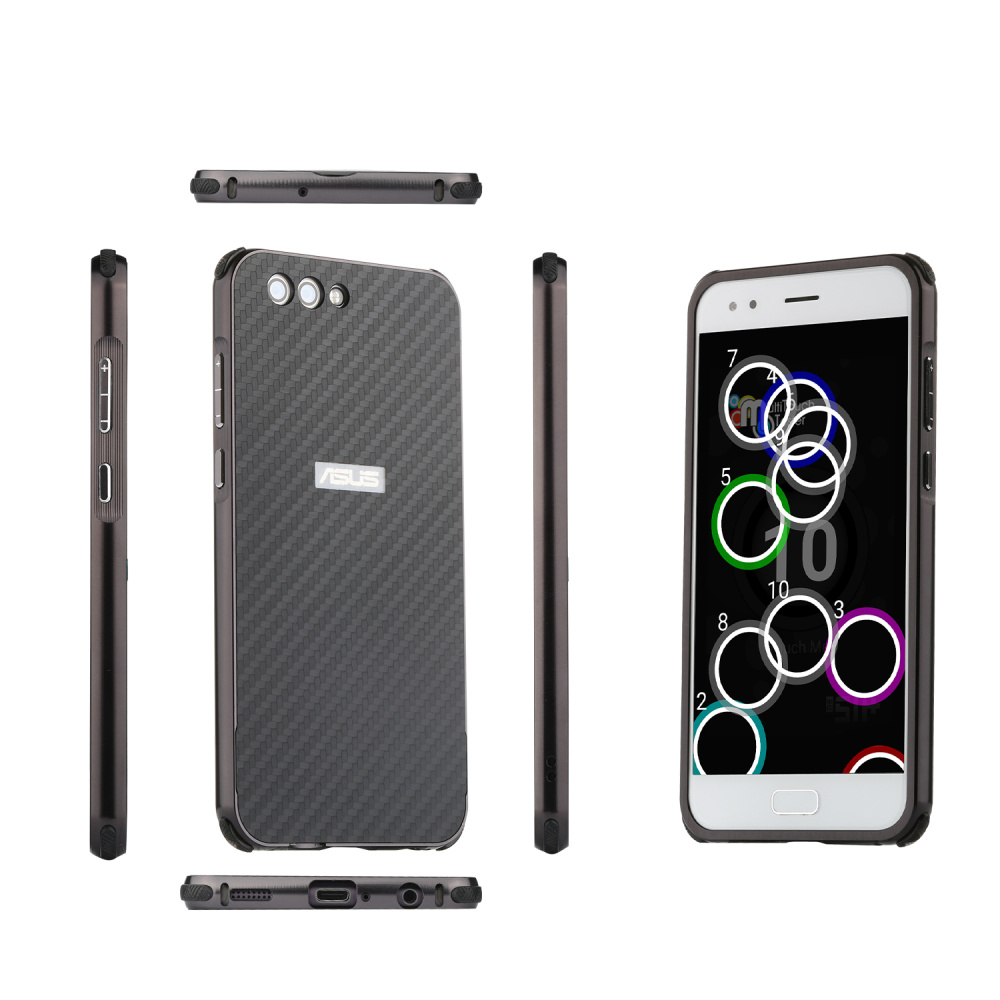 For Asus Zenfone 4 Max ZC520KL Case Aluminum Metal Frame Carbon Fiber Cover Case for Asus Zenfone 4 Max ZC520KL Shockproof Case in Fitted Cases from Cellphones Telecommunications