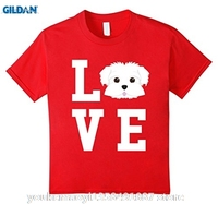 GILDAN I Love My Dog Maltese Animal Lover T Shirt 100 Cotton Men Women T Shirt