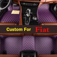 Lady Red Purple Cute Car Floor Foot Pad Front Rear Liner Waterproof Floor Mats For Fiat
