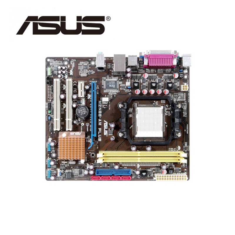 For NVIDIA GeForce 7025 630a ASUS M2N68-AM Plus For Socket Phenom II AM2/AM2+ Motherboard DDR2 M2N68 AM Plus Mainboard Used