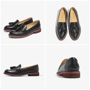 Image 5 - BeauToday Loafers Women Tassels Genuine Leather Slip Ons Sheepskin Pointed Toe Lady Flats Casual Shoes Handmade 27075