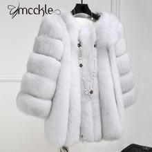 Women Faux Fox Fur Coat 2016 Winter Fashion thickening warm outwear fur coats jackets elegant High Quality Imitate Fur Overcoat