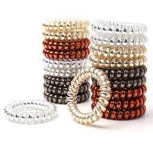 Hot Sale 4Pcs/Set 5.5 CM Hair Band Telephone  Wire Plastic Elastic Ring Women/Girl Accessory Rubber Fashion Gift