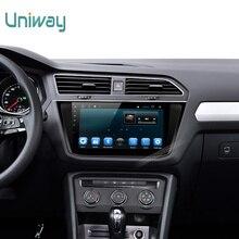 Andooid Uniway 2G + 16G 2 din 6.0 dvd del coche para vw tiguan 2017 radio de coche gps naviagtion con volante de la ayuda wifi 4g