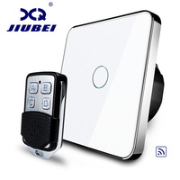Free Shipping Jiubei EU Standard Remote Switch Wall Light Remote Touch Switch With Mini Remote Controller