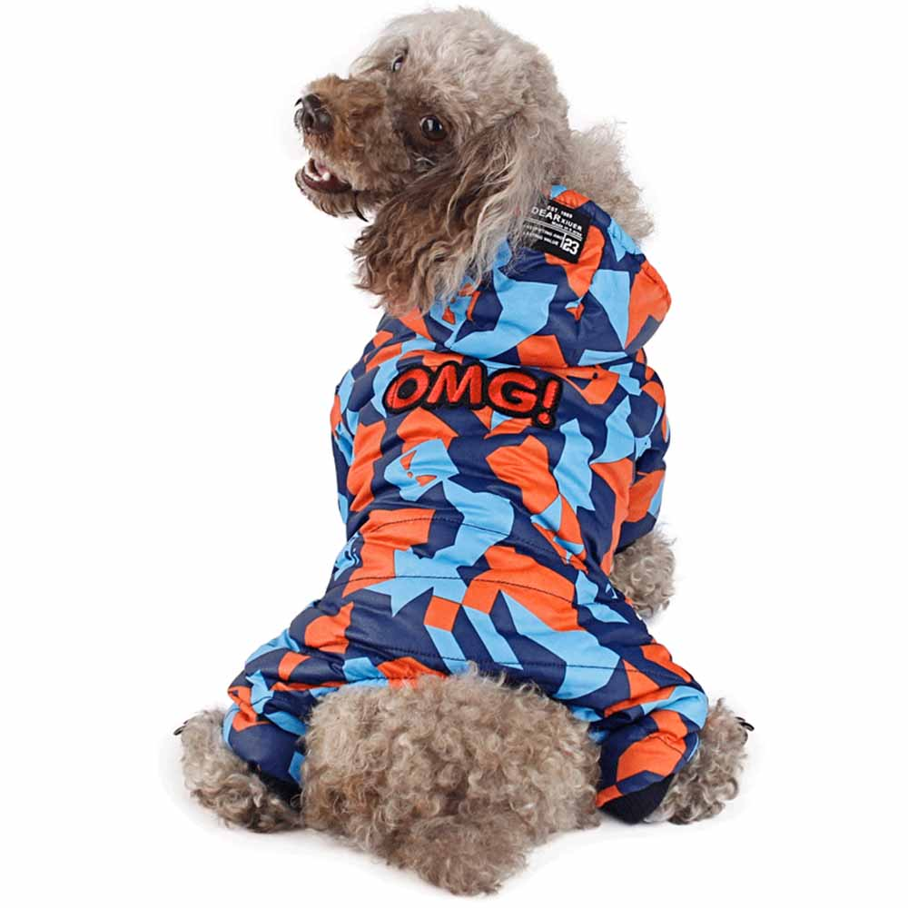 S XXL Waterproof Fabric Pet Dog Clothes Thickening Warm Camouflage Dog Coat Jacket Clothing For