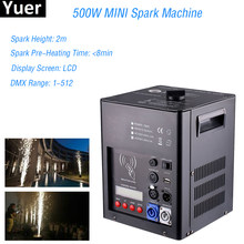 Nieuwste Professionele Stadium Apparatuur 500W MINI Spark Machine Bruiloft Disco DJ Party Fontein DMX Spark Vuurwerk Machine(China)