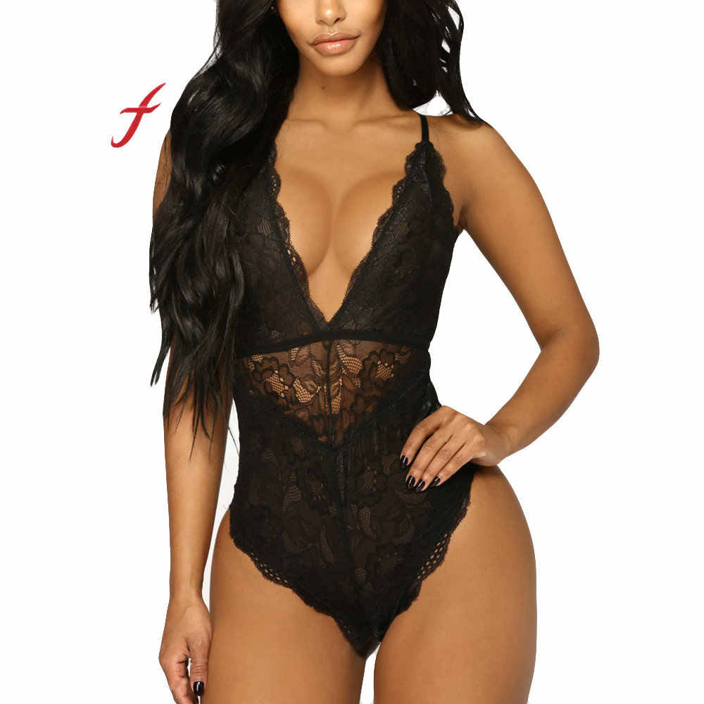 e64fd198d Feitong Women Sexy Lingerie Underwear Sling Nightwear Lace Racy Temptation  Bodysuit Siamese Comfortable sling sexy underwear