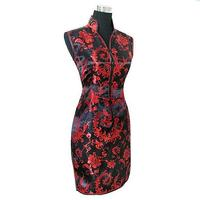 Chinese Women S Tradition Clothing Mini Qipao Short Cheongsam Top Evening Dress Size S To XXXL