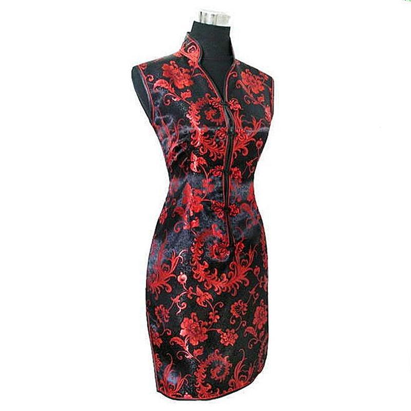 Čínská dámská tradice oblečení Mini Qipao krátký Cheongsam nejvyšší velikosti S až XXXL osmi barev