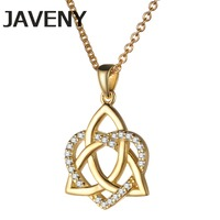 925 Sterling Silver Fine Jewelry CZ Cubic Zirconia Irish Wedding Bridal Keltic Knot Pendants Necklaces for Women Birthday Gifts