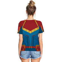 The Avengers Captain Marvel 3D Printed T-shirt Women Men 3D Casual Tops Tees T-shirt O Neck Fashion camisetas EU Size