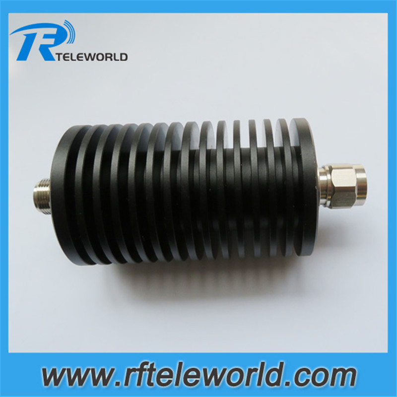 100W RF fixed coaxial attenuator N male to female connector 1dB 2dB 3dB 5dB 6dB 10dB