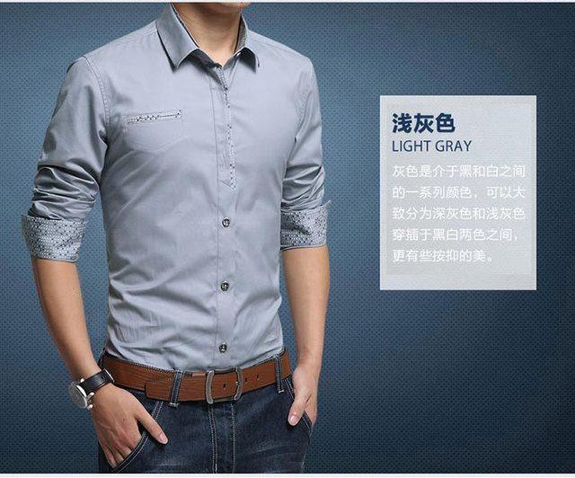 China goedkope groothandel lente herfst nieuwe hot koop 2016 Zakelijke gentleman mannen mode toevallige lange mouw