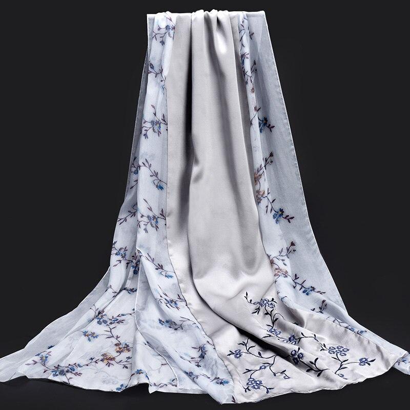 100% Pure soie Wrap écharpe femmes 2019 marque de luxe Hangzhou vrais enveloppes de soie, châles pour dames Foulard Femme foulards en soie naturelle