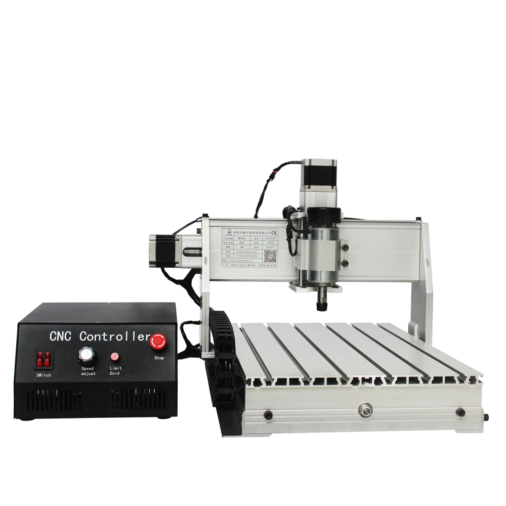 JFT New Arrive Mini CNC3040 500W 3-axis LPT Port CNC Router Engraver Ball Screw Cutting Milling Drilling Engraving Machine cnc 5axis a aixs rotary axis t chuck type for cnc router cnc milling machine best quality