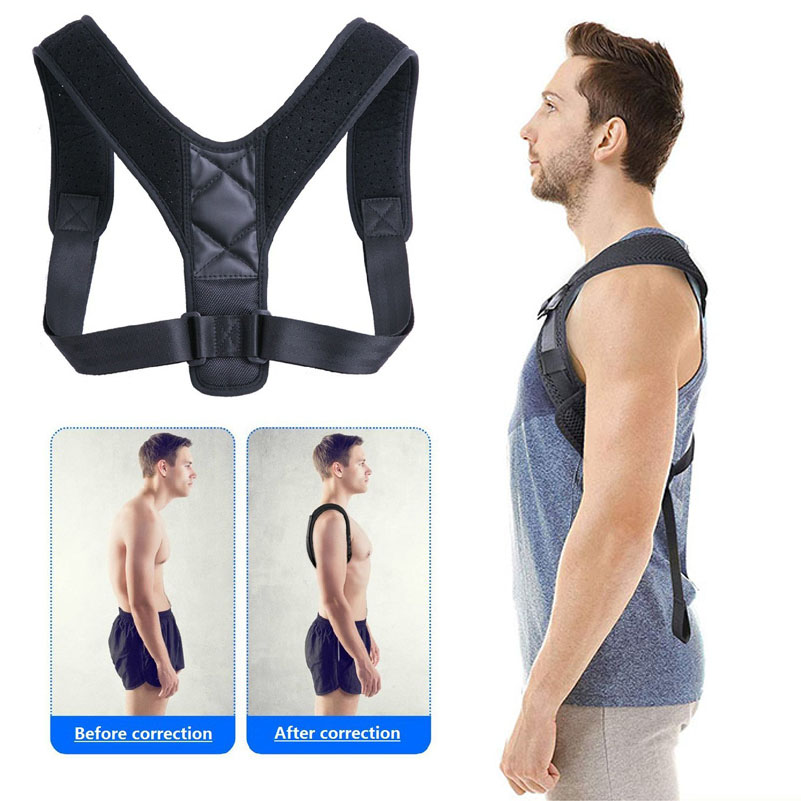 Adjustable Back Posture Corrector Brace Support Belt Clavicle Spine Back Shoulder Lumbar Posture Correction