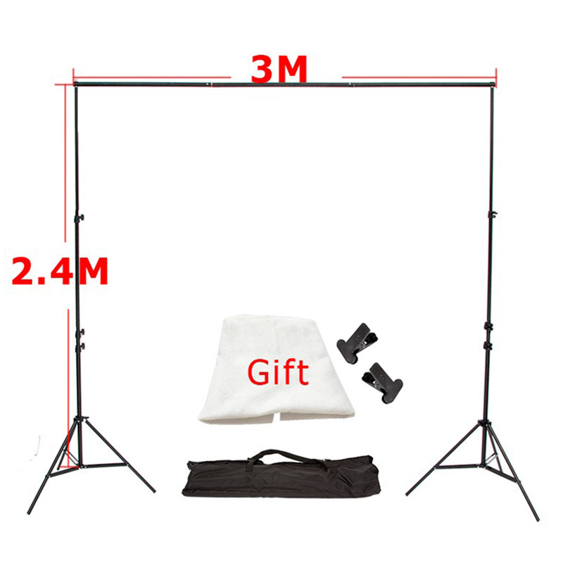 Photo Background 3M x2.4M Photo Studio Aluminum Photography Backgrounds Backdrop Support System Stands with Free Backdrop x 1 ashanks pro photography studio photo backdrops frame background support system 2m x 2 4m stands for photo shoot carry bag
