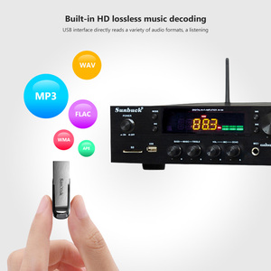 Image 5 - SUNBUCK 150W + 150W HiFi Senza Fili di Bluetooth Stereo Digitale Amplificatore di Karaoke Amplificatore Audio Home Theater di Sostegno USB/ carta di DEVIAZIONE STANDARD
