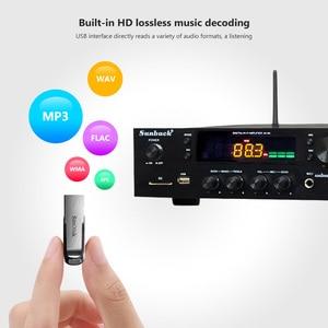 Image 5 - SUNBUCK 150W+150W HiFi Wireless Bluetooth Digital Stereo Amplifier Karaoke Home Theater Audio Amplifier Support USB / SD Card