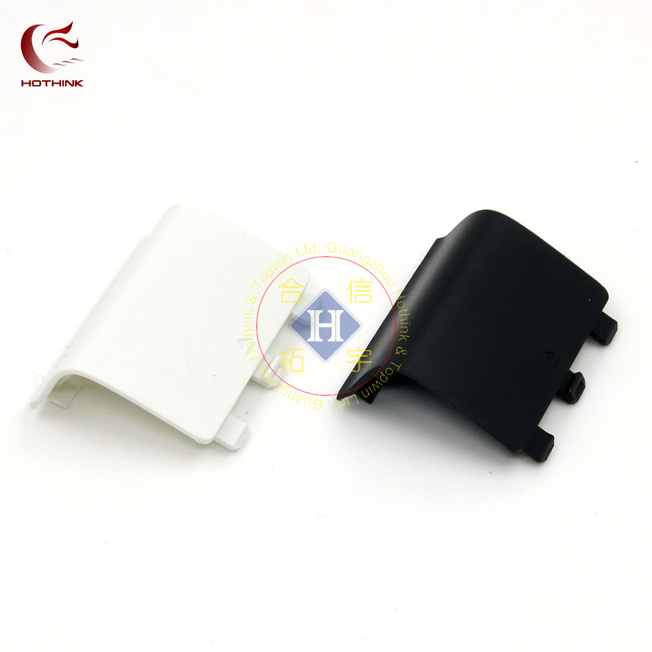 HOTHINK Black white 2pcs-lot New Replacement black battery cover cap door for xbox one controller xb