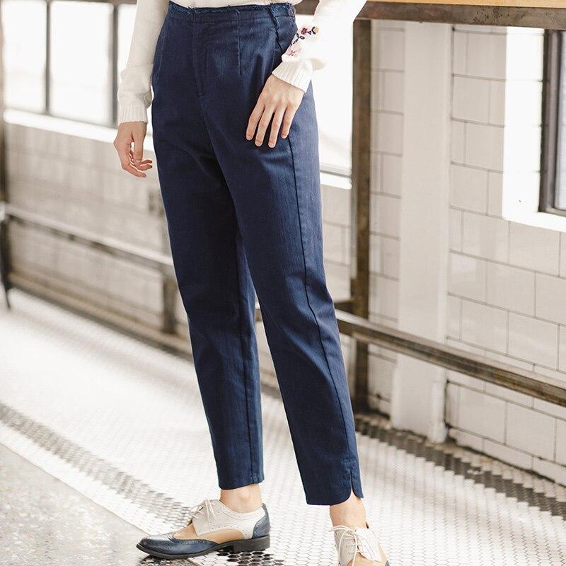 INMAN Women's Fall Fashion Leisure Pants Nine Solid Backing Pants Female Pencil Pants