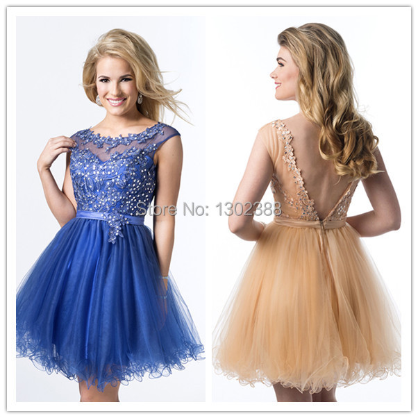 Short Royal Blue Prom Dresses 2015 - Missy Dress