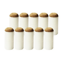 10pcs Packed Slip-on Pool Cue Tip Brown Color Snooker Professional Round, Hot Sale 9mm,10mm,11mm,12mm,13mm,(China)