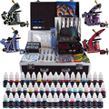 Complete Tattoo Kit 4 Professional Tattoo Machine Kit Coil Machine Guns 54 Inks Power Supply Needle Grips Fast Shipping TK456