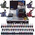Complete Tattoo Kit 4 Professional Tattoo Machine Kit Coil Machine Guns 54 Inks Power Supply Needle Grips Fast Shipping TK456