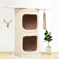 Nordic Style Solid Wooden Cat Climbing Tree Desk Cat Scratch Jumping Toy for Kittens Pet House Play