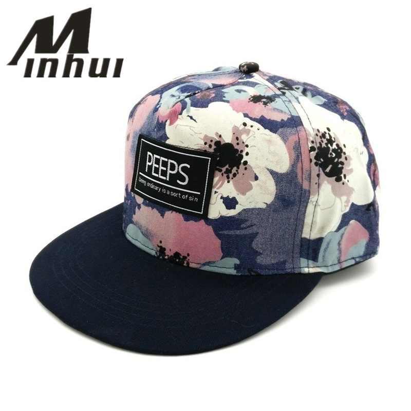Minhui 2015 New Fashion PEEPS Baseball Caps Snapback Flat Brim Hat Street  Dance Gift Hip Hop f913faa38b46