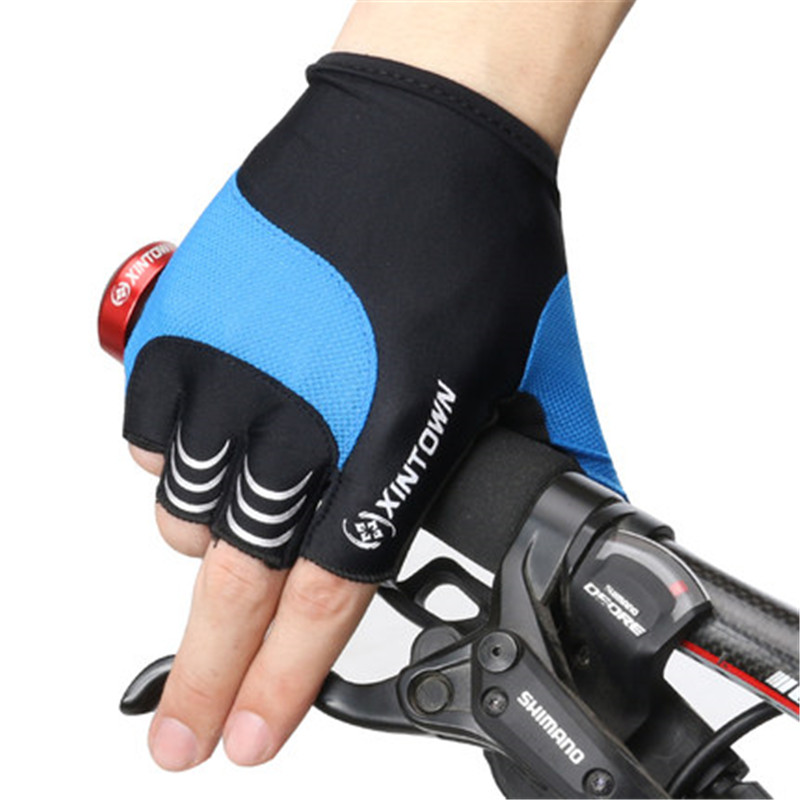 XINTOWN Half Finger Senza Dita con Panda Guanti da Ciclista